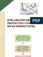 Evaluación proyectos base riesgo total