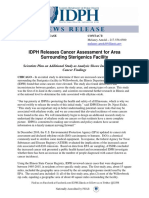 IDPH Cancer Assessment for Area Surrounding Sterigenics Facility