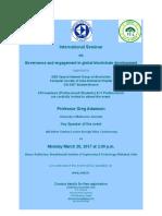 Invitation of International Seminar
