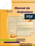 Manual Formulacion y Evaluacion de Proyectos 2012