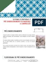 Pre-dimensionamento - Madeira - Compressão