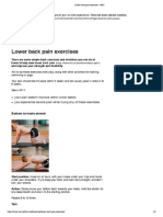 Lower Back Pain Exercises - NHS