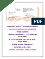 UNIDAD 1 ACTIVIDAD 3 PROPORCIONES ARITMETICAS Y GEOMETRICAS DE MATEMATICAS FINANCIERAS.docx