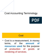 Cost Accounting Terminology