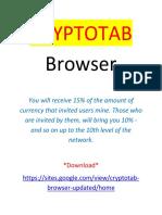 CryptoTab Browser - Income