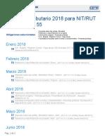 CETA Herramientas - Calendario Tributario 2019 Para NIT_RUT