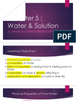 5.1 Physical characteristics of water