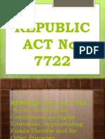 Republic Act No.7722