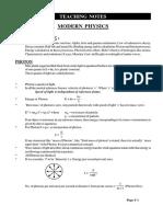 MODERN PHYSICS NOTES