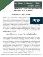 Aislamiento Mycoplasma Pulmon Cerdo