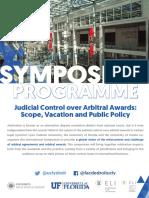 Programme - Judicial Control Over Arbitral Awards