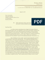 Letter to UH Law School