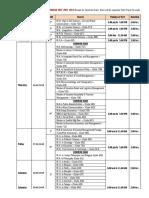 PG Entrance Schedule Test