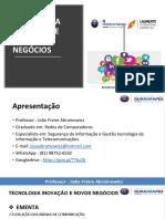 TECNOLOGIA INOVAÇÃO E NOVOS NEGÓCIOS- AULA 01.pptx