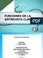 funciones de la entrevista clinica