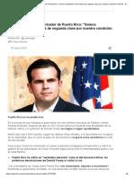 Ricardo Rosselló, Gobernador de Puerto Rico_ _Somos Ciudadanos Americanos de Segunda Clase Por Nuestra Condición Colonial_ - BBC News Mundo