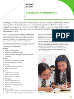 80607 Cambridge Lower Secondary Maths Curriculum Outline