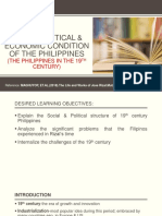 Socio Political and Economic Condition in the Philippines