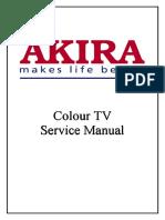 akira tv chasis manual