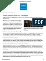 Injerencia política en el Poder Judicial