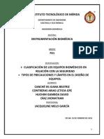 Calsificacion de Los Equipos Biomedicos