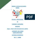 Separata  guía practica de sistemas de reservas