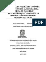 """1. Propuesta de Aumento Del Grado de Satisfacción Del Cliente Para """"Victoriusbody Sas"""" Con Base S"""