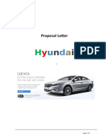 Proposal Letter Hyundai