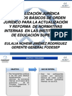 ORDEN JURIDICO INSTITUCIONES DE EDUCACION SUPERIOR