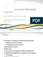 Capacity Procurement Mechanism Overview