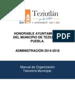 Teziutlan Manual de Organizacion Tesoreria