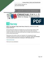 Crucial Skills Newsletter