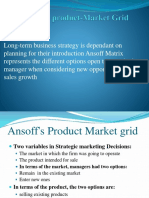 Ansoff's Product Market Grid