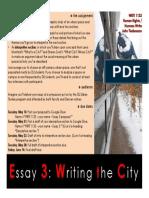 WRIT 1133, Spring 2019, Essay 3 Assignment