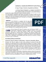 PR0199_Komatsu Europe International n.v. Launches D155AX-8 Bulldozer