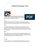A Glossary of Digital Photography Terms