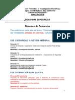 Demandas Especificas FOMIX 2010 (Tercer Corte)