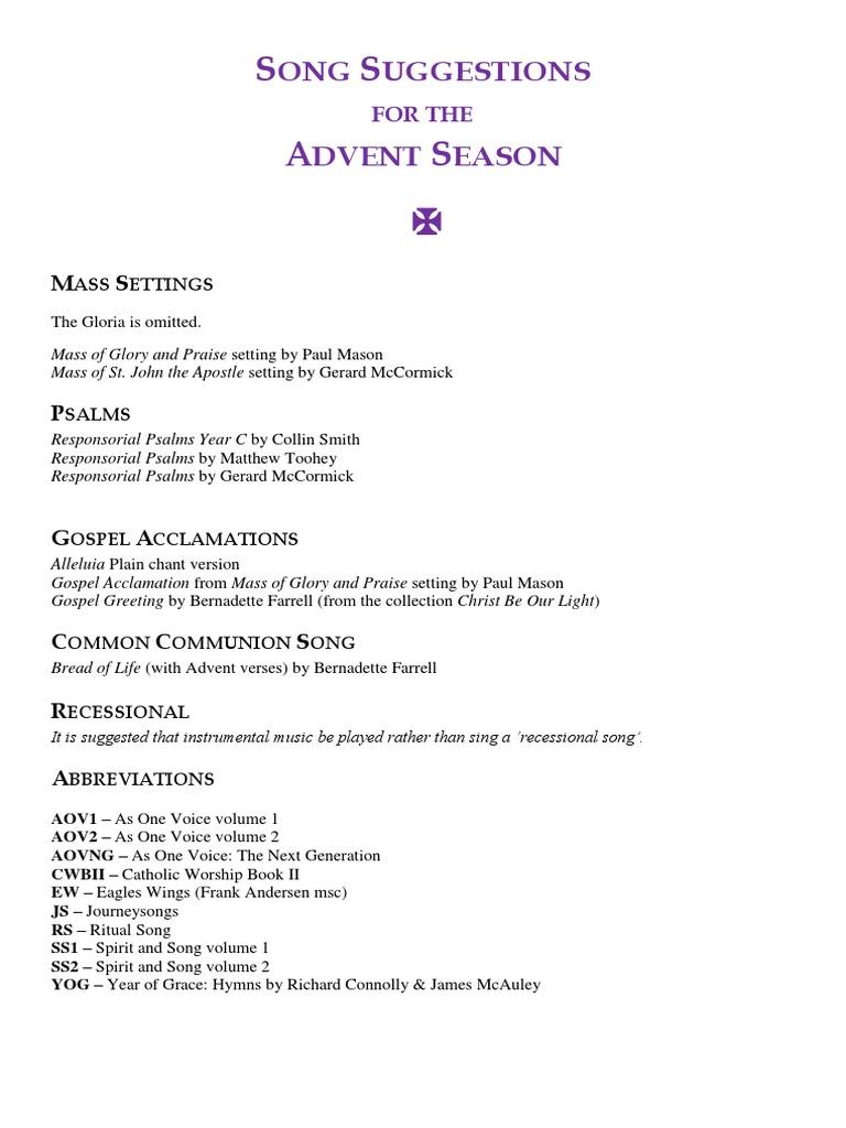 Ibanag Song Lyrics | Advent | Mass (Liturgy)