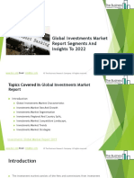 Investments Global Market Report 2019