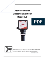 Ultrasonic Level Transmitter NUS Manual