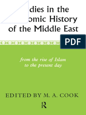 Ma Cook Studies In The Economic History In Middle Eastpdf