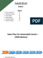 Sales Plan for Tata Motors
