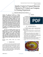 Analysis of Print Quality Control of Canned Materials with the DMAIC Method in PT United can Company  New Printing Department