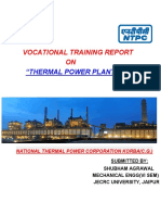 Vocational training report on thermal power plant