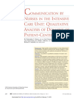Communication by Nurses in the Intensive Care Unit Qualitative Analysis of Domains of Pcc