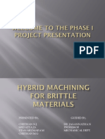 Hybrid machining of brittle materials