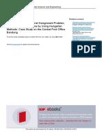 Assignement Problem Case Study