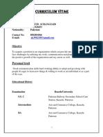 Aqib Timekeeper CV