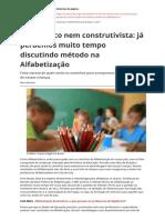 Nem Fonico Nem Construtivista Ja Perdemos Muito Tempo Discutindo Metodo Na Alfabetizacaopdf