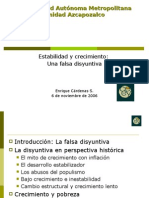 Falsa disyuntiva entre crecimiento y estabiliad-Cárdenas Enrique